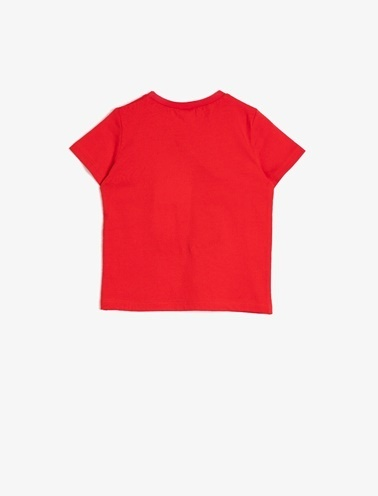 Koton Kids Yazili Baskili T-Shirt Kırmızı